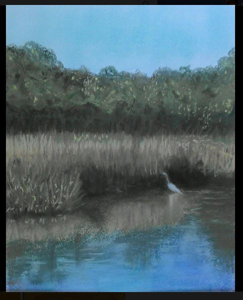 Edisto crane in the marsh