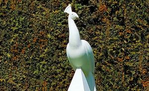 'Peacockalisque' by Mark Swan in AC730 Jesmonite