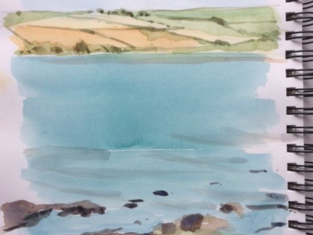 Plein-air sketching in the West Country