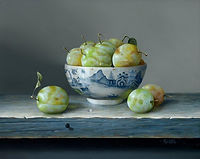 'Yellow plums in bowl' by Rob Ritchie