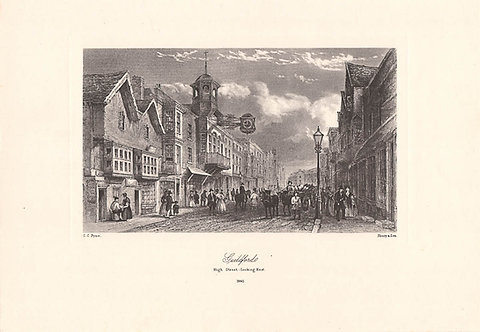 Guildford, High Street - Surrey as it was 100 years ago