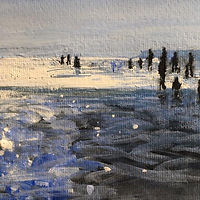 'West Wittering Waders' by Sonya VIne