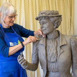 Sculpture by SSS Sculptor unveiled in Epsom.