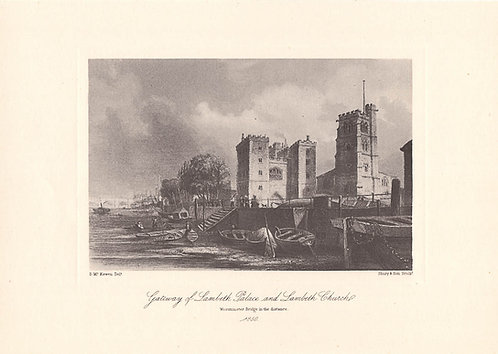 Lambeth Palace and Church - Surrey as it was 100 years ago