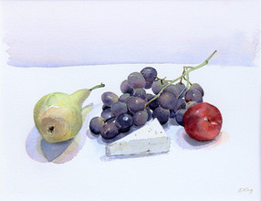 Purple Grapes with Pear