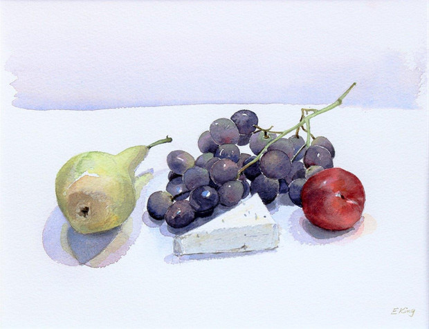 Purples Grapes with Pear