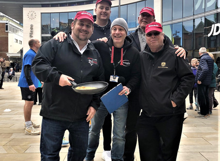 Seafare St. Johns take bronze in Woking Pancake Race