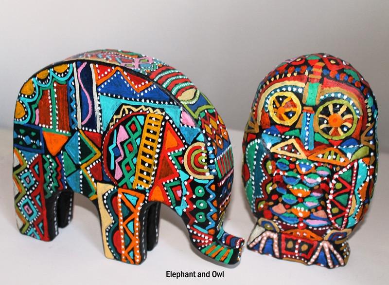 Elephant and Owl