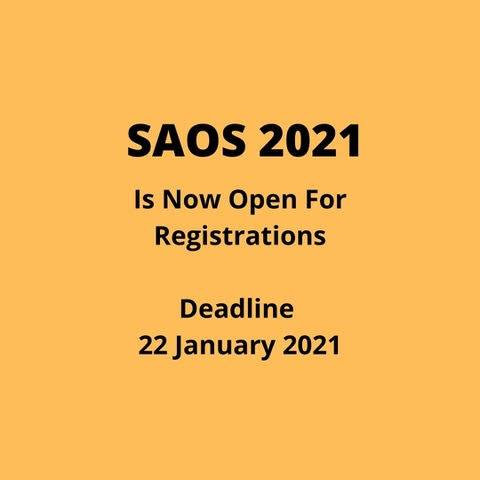SAOS 2021 is open for registrations