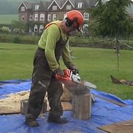 Sculpting with a Chainsaw Demonstration
