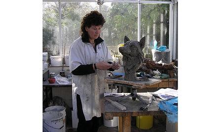 Carol Orwin, Patination Demo