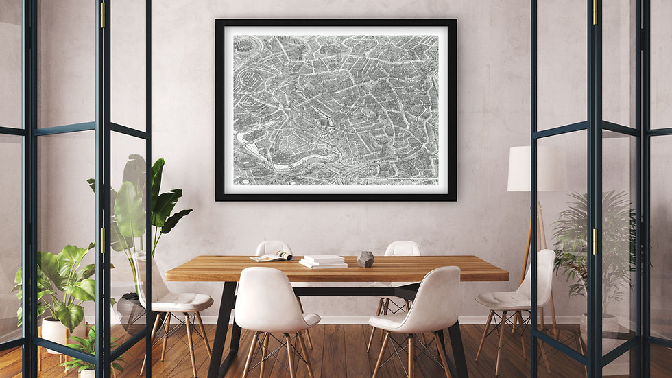 MANCHESTER. Gallery standard print. Signed/numbered. 121.4cm x 91.4cm