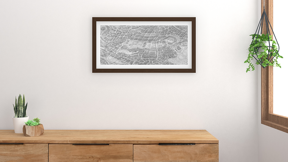 EDINBURGH City Poster. Size: 116x55cm