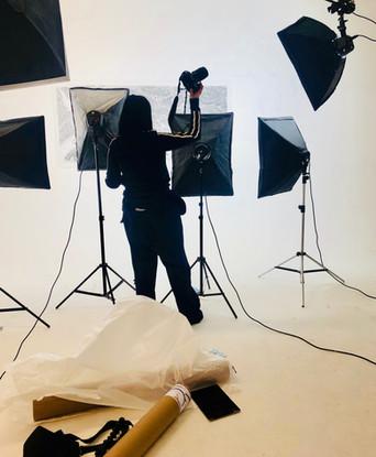 Lorna in the studio