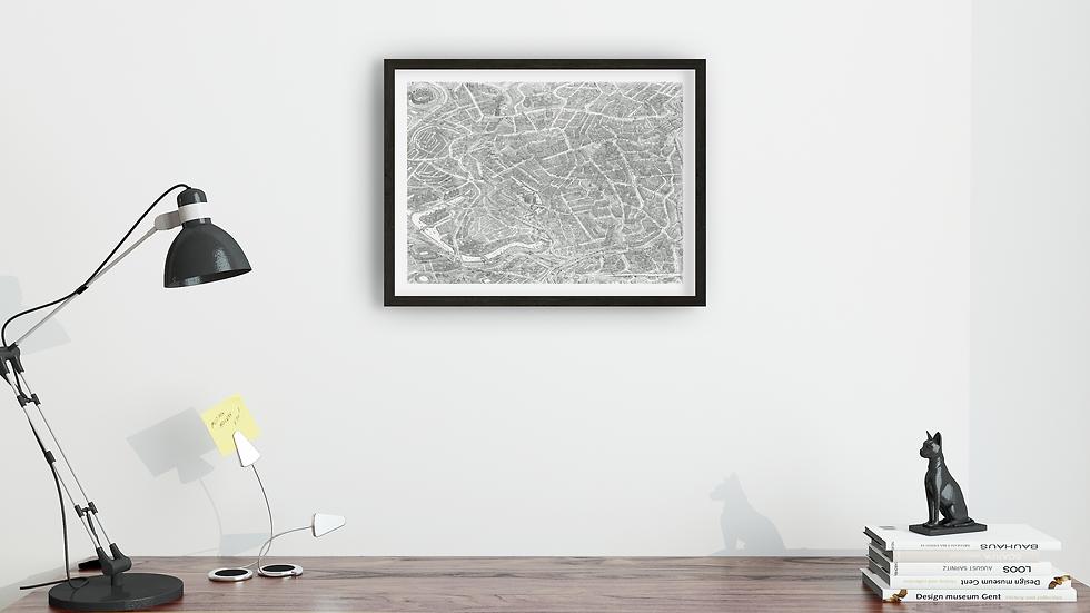 Mini-poster - MANCHESTER city. Size: 50x37.8cm