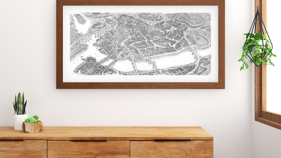 INVERNESS City Poster. Size: 100 x 47 cm