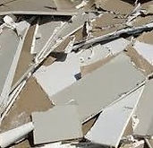 Dry wall debris.