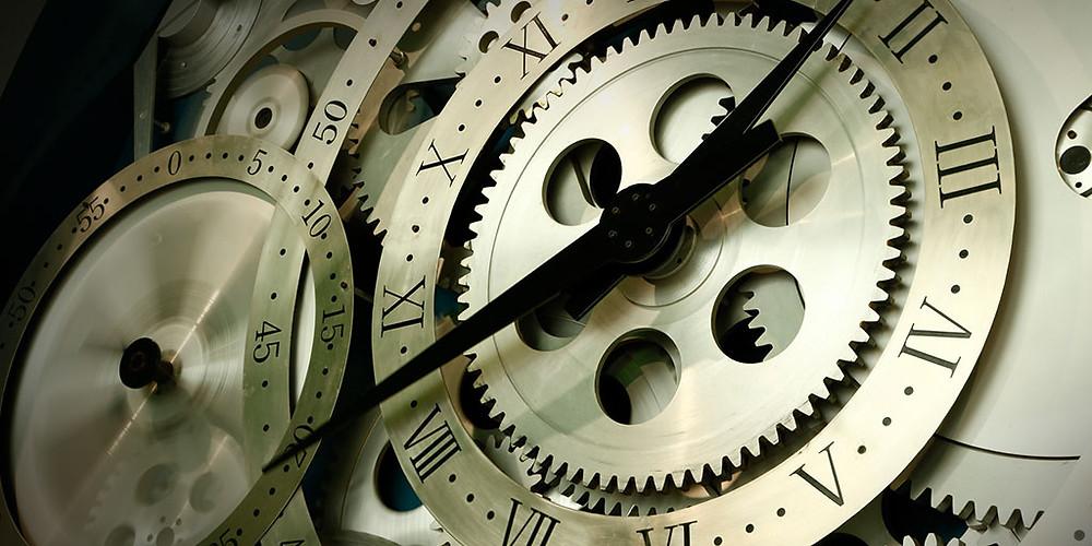 Clock gears.