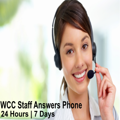 WCC Staff answers phone 24/7
