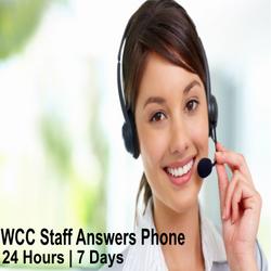 WCC Staff answers phone 24/7