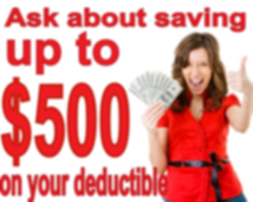Deductible savings for water damage claims.
