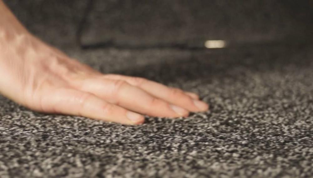Plush style carpet.