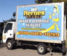 Look for our truck to arrive to your water dmage.