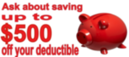 Deductible savings on water damage claim.