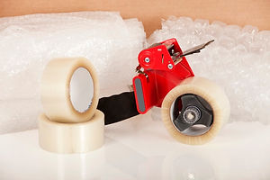 Packing tape and bubble wrap for water damage content packing.