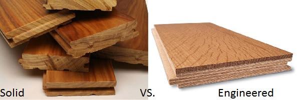 Solid Hardwood vs. Engineered Hardwood