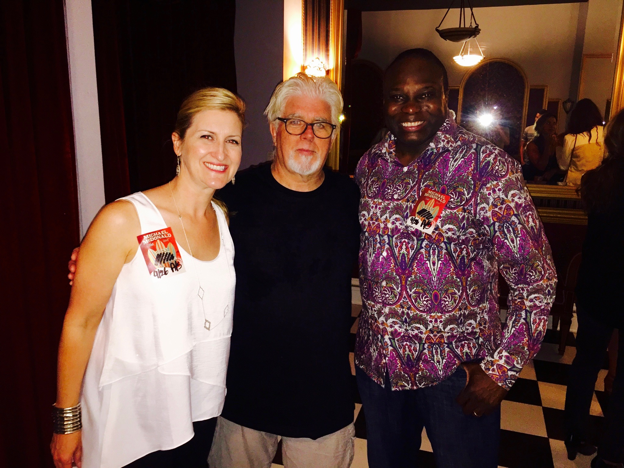 Backstage at Michael McDonald