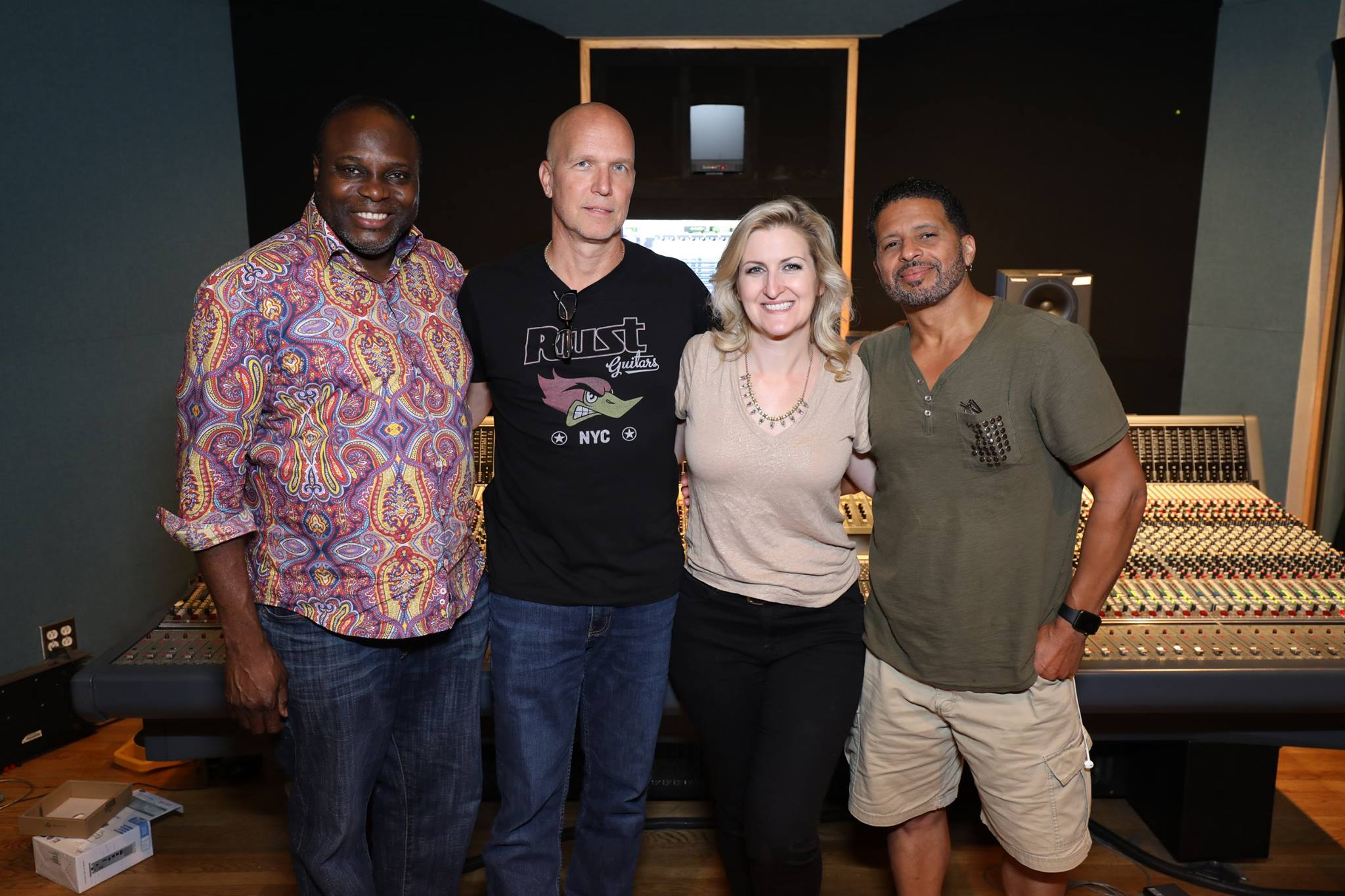 Great horn & vocal recording session
