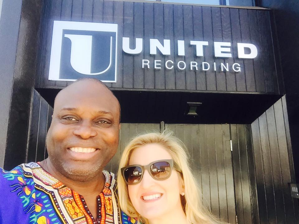 Patrice and Yinka in front United Recording