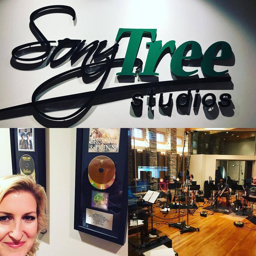 Horn session at SonyTree, Nashville