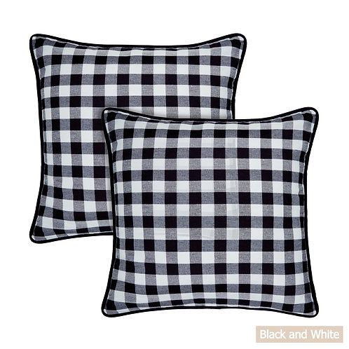 Buffalo Check Throw Pillow Covers 18in x 18in
