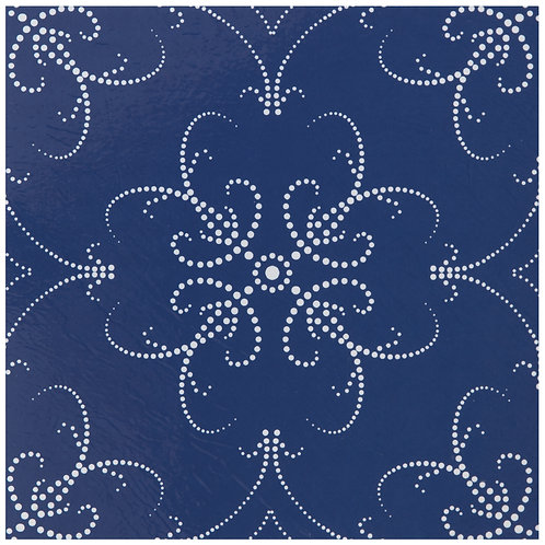 Retro 12x12 Self Adhesive Vinyl Floor Tile - 20 Tiles/20 sq. ft. - Navy Pearl