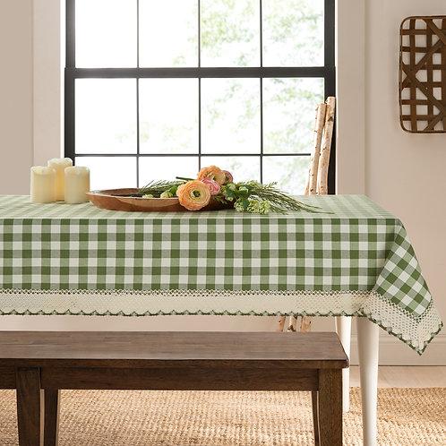 Buffalo Check Accessories Rectangle Tablecloth - Sage