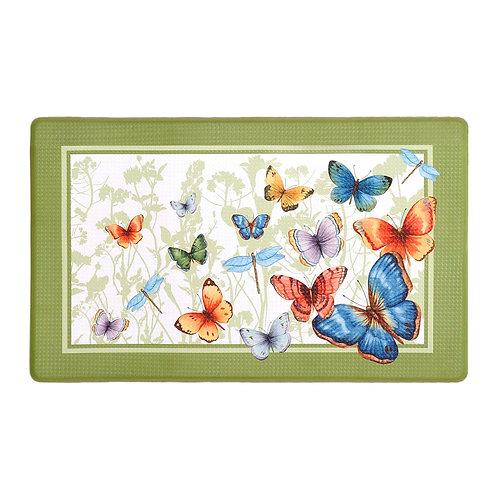 """Anti Fatigue Mat - Butterflies, 18"""" x 30"""""""
