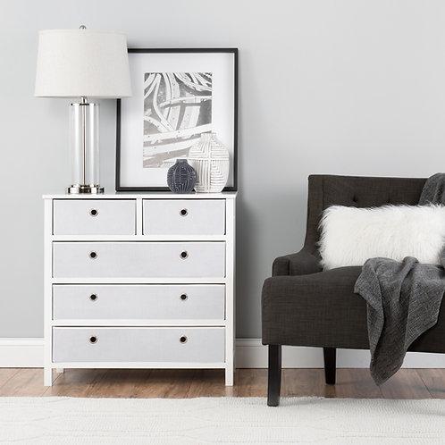EZ Home Solutions ™ Foldable Furniture Split Drawer Single Dresser 31x31x19