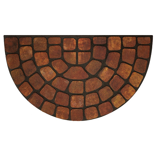 "Raised Rubber Mat - Beige Stone Slice 18"" x 30"""