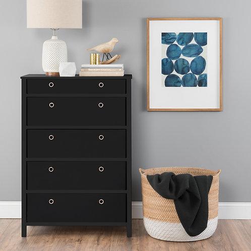 EZ Home Solutions ™ Foldable Furniture 5 Drawer Tall Dresser 45x31x19 - Black