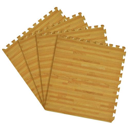 Interlocking Foam 24x24 Anti Fatigue Floor Tiles 4 tiles/16 Sq. Ft. - Pine