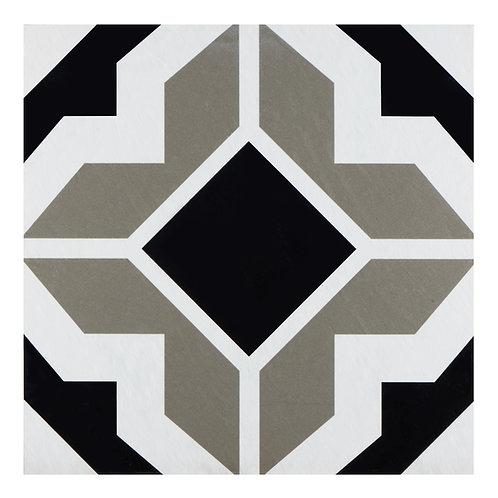 Retro 12x12 Self Adhesive Vinyl Floor Tile - 20 Tiles/20 sq. ft. - Onyx Star