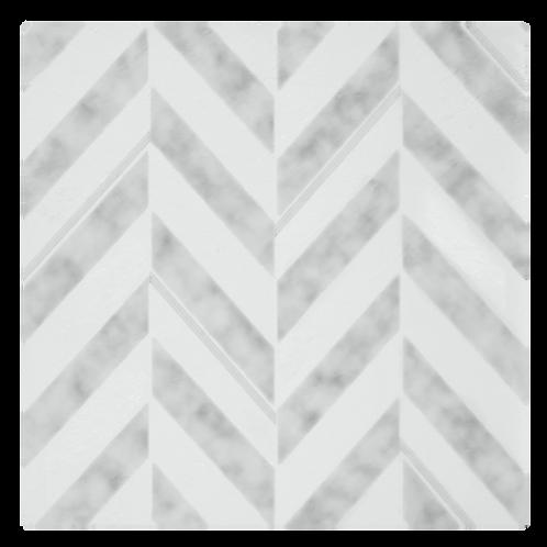 Retro 12x12 Self Adhesive Vinyl Floor Tile - 20 Tiles/20 sq. ft. - Chevron