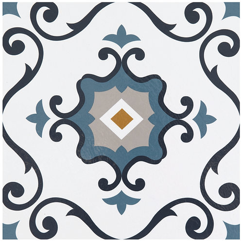 Retro 12x12 Self Adhesive Vinyl Floor Tile - 20 Tiles/20 sq. ft. - Slate