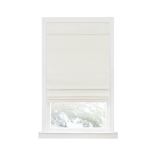 Cordless Blackout Roman Window Shade - Ivory
