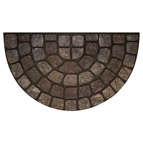 "Raised Rubber Mat - Gray Stone Slice, 18"" x 30"""