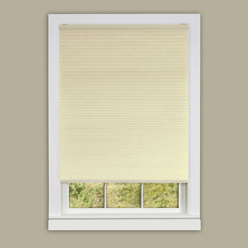 Cordless Honeycomb Cellular Pleated Shade - Alabaster