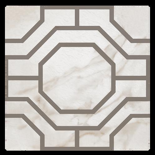 Retro 12x12 Self Adhesive Vinyl Floor Tile - 20 Tiles/20 sq. ft. - Octagon