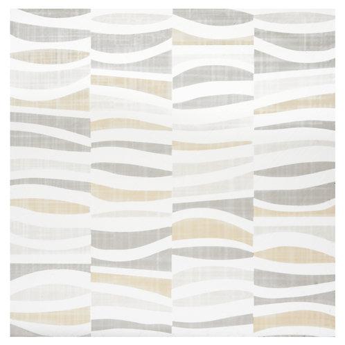Retro 12x12 Self Adhesive Vinyl Floor Tile - 20 Tiles/20 sq. ft. - Linen Waves